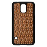HEXAGON1 BLACK MARBLE & RUSTED METAL Samsung Galaxy S5 Case (Black) Front