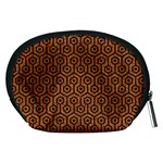 HEXAGON1 BLACK MARBLE & RUSTED METAL Accessory Pouches (Medium)  Back