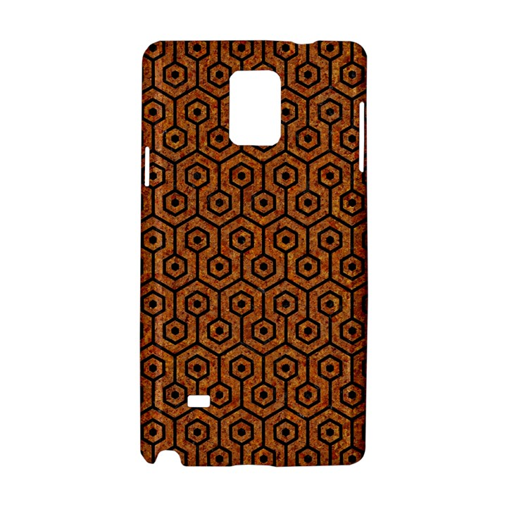HEXAGON1 BLACK MARBLE & RUSTED METAL Samsung Galaxy Note 4 Hardshell Case