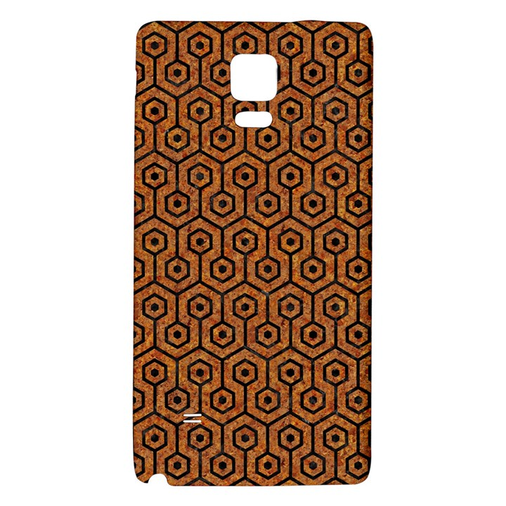 HEXAGON1 BLACK MARBLE & RUSTED METAL Galaxy Note 4 Back Case
