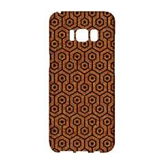 Hexagon1 Black Marble & Rusted Metal Samsung Galaxy S8 Hardshell Case