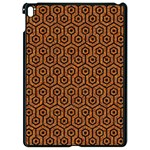 HEXAGON1 BLACK MARBLE & RUSTED METAL Apple iPad Pro 9.7   Black Seamless Case Front