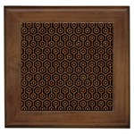 HEXAGON1 BLACK MARBLE & RUSTED METAL (R) Framed Tiles Front