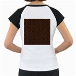 HEXAGON1 BLACK MARBLE & RUSTED METAL (R) Women s Cap Sleeve T Back