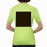 HEXAGON1 BLACK MARBLE & RUSTED METAL (R) Women s Green T-Shirt Back