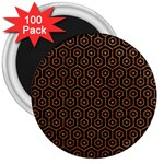 HEXAGON1 BLACK MARBLE & RUSTED METAL (R) 3  Magnets (100 pack) Front