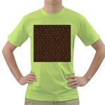 HEXAGON1 BLACK MARBLE & RUSTED METAL (R) Green T-Shirt Front