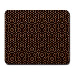 HEXAGON1 BLACK MARBLE & RUSTED METAL (R) Large Mousepads Front