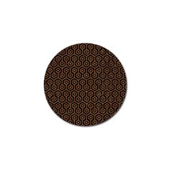 Hexagon1 Black Marble & Rusted Metal (r) Golf Ball Marker (4 Pack)