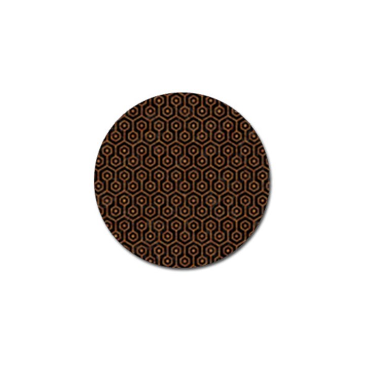 HEXAGON1 BLACK MARBLE & RUSTED METAL (R) Golf Ball Marker (10 pack)