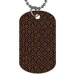 HEXAGON1 BLACK MARBLE & RUSTED METAL (R) Dog Tag (Two Sides) Front