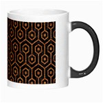 HEXAGON1 BLACK MARBLE & RUSTED METAL (R) Morph Mugs Right