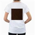 HEXAGON1 BLACK MARBLE & RUSTED METAL (R) Women s Loose-Fit T-Shirt (White) Back