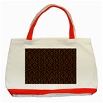HEXAGON1 BLACK MARBLE & RUSTED METAL (R) Classic Tote Bag (Red) Front