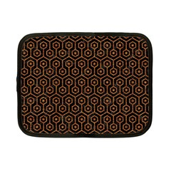 Hexagon1 Black Marble & Rusted Metal (r) Netbook Case (small)