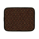 HEXAGON1 BLACK MARBLE & RUSTED METAL (R) Netbook Case (Small)  Front