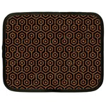 HEXAGON1 BLACK MARBLE & RUSTED METAL (R) Netbook Case (Large) Front