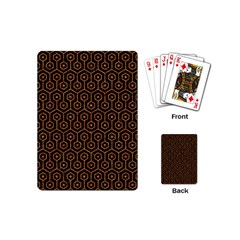 Hexagon1 Black Marble & Rusted Metal (r) Playing Cards (mini)