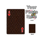 HEXAGON1 BLACK MARBLE & RUSTED METAL (R) Playing Cards 54 (Mini)  Front - Heart4