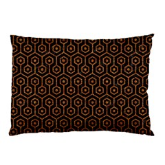 Hexagon1 Black Marble & Rusted Metal (r) Pillow Case (two Sides)