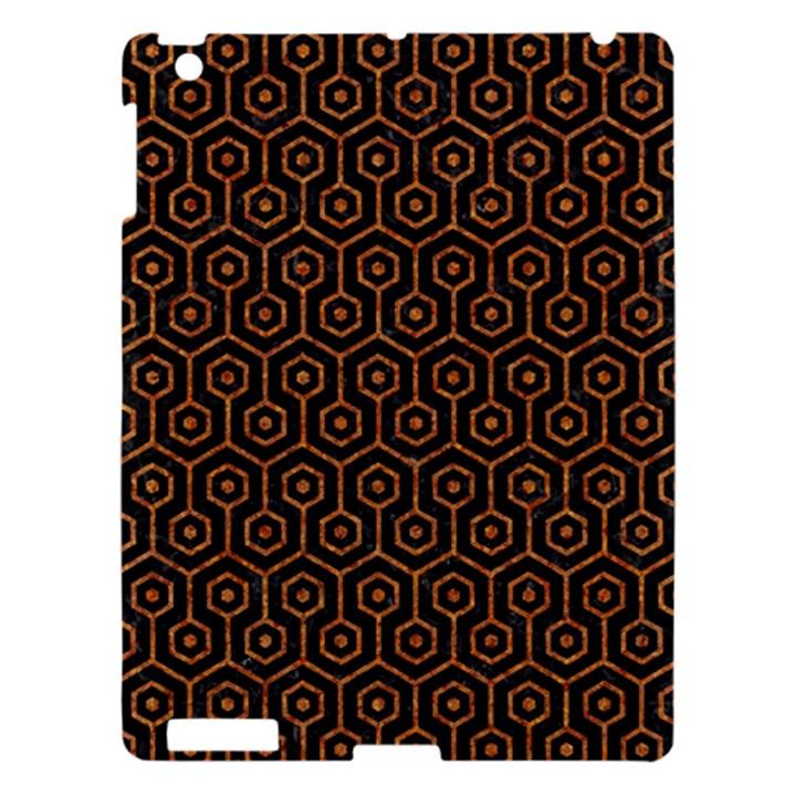 HEXAGON1 BLACK MARBLE & RUSTED METAL (R) Apple iPad 3/4 Hardshell Case