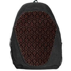 Hexagon1 Black Marble & Rusted Metal (r) Backpack Bag