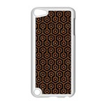 HEXAGON1 BLACK MARBLE & RUSTED METAL (R) Apple iPod Touch 5 Case (White) Front