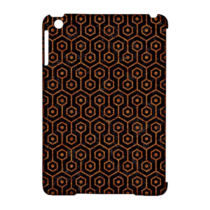 HEXAGON1 BLACK MARBLE & RUSTED METAL (R) Apple iPad Mini Hardshell Case (Compatible with Smart Cover)