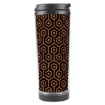 HEXAGON1 BLACK MARBLE & RUSTED METAL (R) Travel Tumbler Right