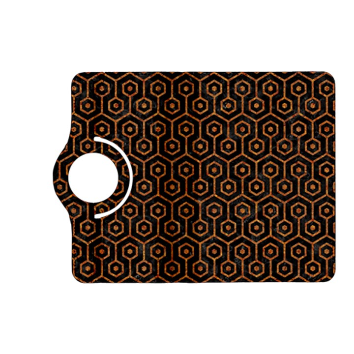 HEXAGON1 BLACK MARBLE & RUSTED METAL (R) Kindle Fire HD (2013) Flip 360 Case