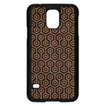 HEXAGON1 BLACK MARBLE & RUSTED METAL (R) Samsung Galaxy S5 Case (Black) Front