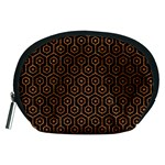 HEXAGON1 BLACK MARBLE & RUSTED METAL (R) Accessory Pouches (Medium)  Front