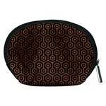 HEXAGON1 BLACK MARBLE & RUSTED METAL (R) Accessory Pouches (Medium)  Back
