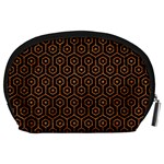 HEXAGON1 BLACK MARBLE & RUSTED METAL (R) Accessory Pouches (Large)  Back