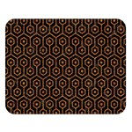 HEXAGON1 BLACK MARBLE & RUSTED METAL (R) Double Sided Flano Blanket (Large)  80 x60 Blanket Front