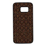 HEXAGON1 BLACK MARBLE & RUSTED METAL (R) Samsung Galaxy S7 Black Seamless Case Front
