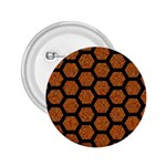 HEXAGON2 BLACK MARBLE & RUSTED METAL 2.25  Buttons Front