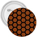 HEXAGON2 BLACK MARBLE & RUSTED METAL 3  Buttons Front