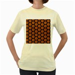 HEXAGON2 BLACK MARBLE & RUSTED METAL Women s Yellow T-Shirt Front