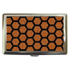 Hexagon2 Black Marble & Rusted Metal Cigarette Money Cases