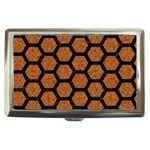 HEXAGON2 BLACK MARBLE & RUSTED METAL Cigarette Money Cases Front