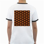 HEXAGON2 BLACK MARBLE & RUSTED METAL Ringer T-Shirts Back