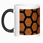 HEXAGON2 BLACK MARBLE & RUSTED METAL Morph Mugs Left