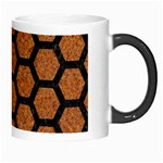 HEXAGON2 BLACK MARBLE & RUSTED METAL Morph Mugs Right