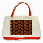 HEXAGON2 BLACK MARBLE & RUSTED METAL Classic Tote Bag (Red) Front