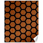 HEXAGON2 BLACK MARBLE & RUSTED METAL Canvas 16  x 20   20 x16 Canvas - 1