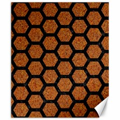 Hexagon2 Black Marble & Rusted Metal Canvas 20  X 24