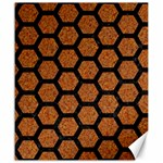 HEXAGON2 BLACK MARBLE & RUSTED METAL Canvas 20  x 24   24 x20 Canvas - 1