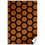 HEXAGON2 BLACK MARBLE & RUSTED METAL Canvas 20  x 30   30 x20 Canvas - 1
