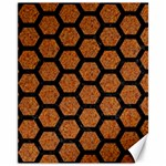 HEXAGON2 BLACK MARBLE & RUSTED METAL Canvas 11  x 14   14 x11 Canvas - 1